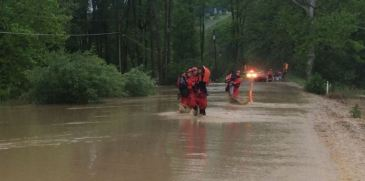 The Ithaca Fire Department rescued at least 23 people in Newfield due to flooding. (c) 2015 Ithaca Fire Department